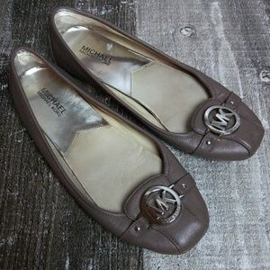 10M Michael Kors Flat Ballet Gray Shoes